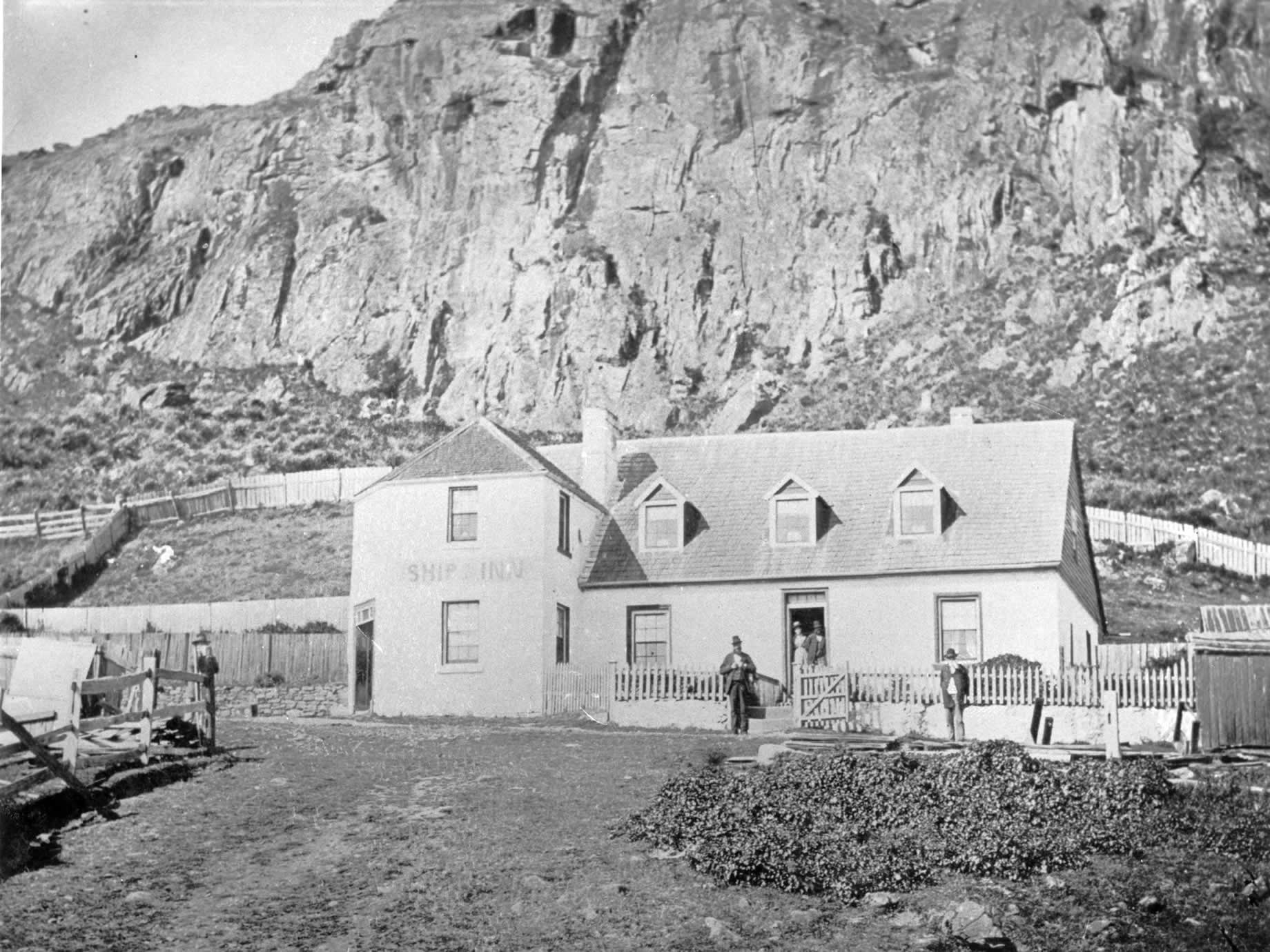The Ship Inn, first licenced in 1849, which was sold in 1903 and renamed Bay View Hotel