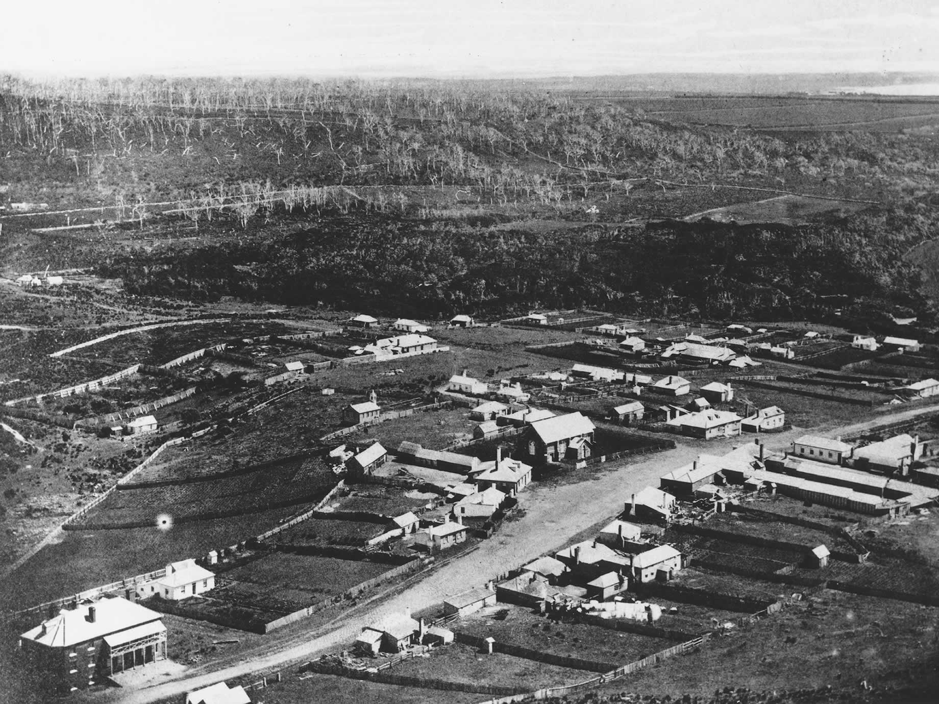 The township of Stanley in 1858, taken by Fred Frith